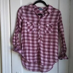 C&C California Pink Flannel Top